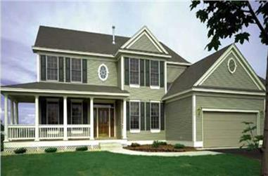 4-Bedroom, 2864 Sq Ft Country Home Plan - 146-1993 - Main Exterior