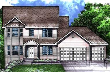 3-Bedroom, 2298 Sq Ft Colonial House Plan - 146-1994 - Front Exterior
