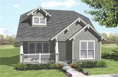 4-Bedroom, 1398 Sq Ft Craftsman Home Plan - 146-1996 - Main Exterior