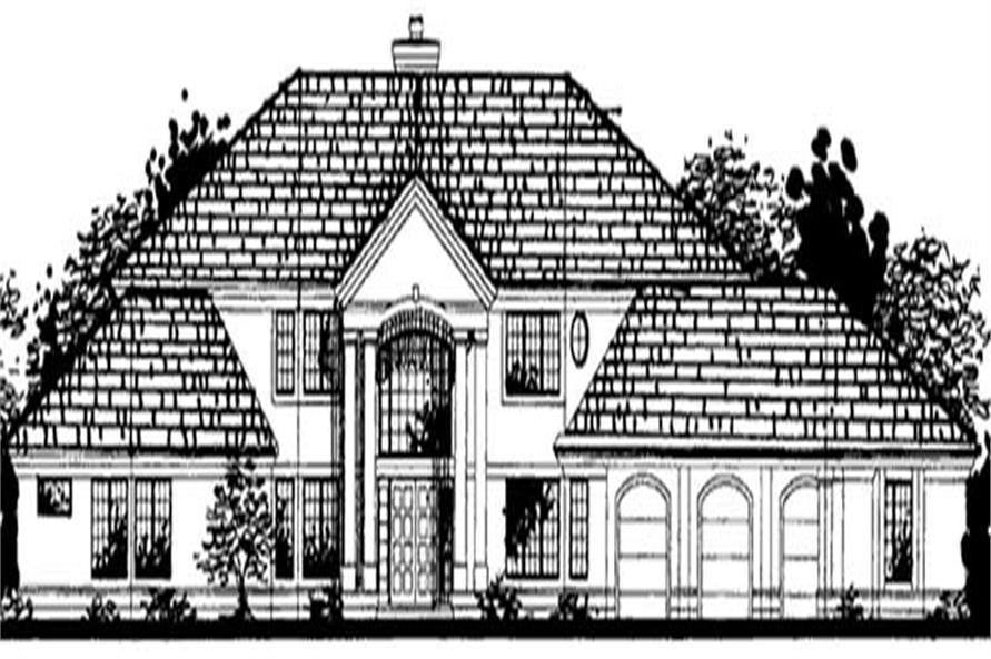 4-Bedroom, 4779 Sq Ft Colonial House Plan - 146-1997 - Front Exterior