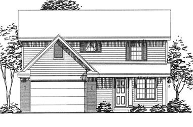 3-Bedroom, 1795 Sq Ft Country House Plan - 146-1999 - Front Exterior