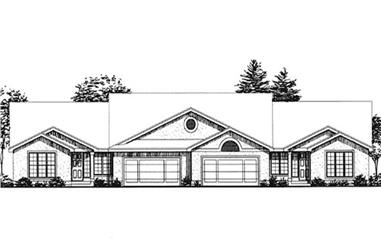 2-Bedroom, 2290 Sq Ft Multi-Unit House Plan - 146-2003 - Front Exterior