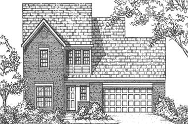 4-Bedroom, 1842 Sq Ft Colonial House Plan - 146-2004 - Front Exterior