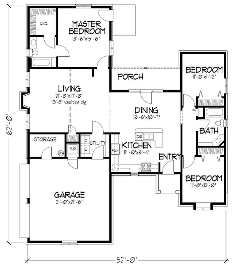 Tudor house plans home design ls 94136 e 20681 for Tudor home floor plans