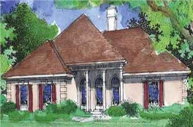 3-Bedroom, 1655 Sq Ft Country House Plan - 146-2008 - Front Exterior