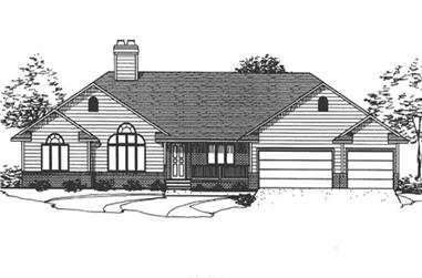 3-Bedroom, 2565 Sq Ft Ranch House Plan - 146-2009 - Front Exterior