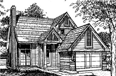 2-Bedroom, 1507 Sq Ft Vacation Homes House Plan - 146-2011 - Front Exterior