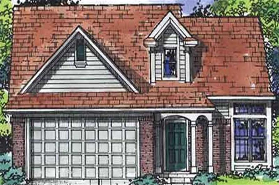 4-Bedroom, 1589 Sq Ft House Plan - 146-2013 - Front Exterior