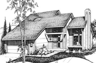 3-Bedroom, 1564 Sq Ft Cape Cod Home Plan - 146-2014 - Main Exterior
