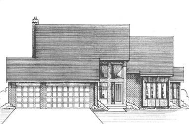 4-Bedroom, 2402 Sq Ft Ranch Home Plan - 146-2015 - Main Exterior