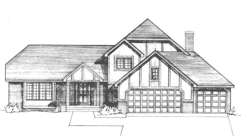 elev_lrLS-97984-RE_Felev House Plan Kitchen With Window Front on house plans with glass walls, house plans with vaulted ceilings, house plans with french doors, house plans with decks, house plans with fireplaces, house plans with garage, house plans with luxury kitchens, house plans with dining room, house plans with patio doors, house plans with bedrooms, house plans with walk-in closets,