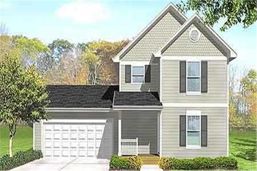 3-Bedroom, 1078 Sq Ft Country House Plan - 146-2020 - Front Exterior