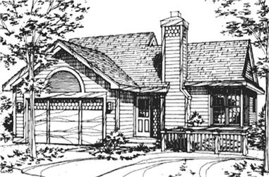 2-Bedroom, 1123 Sq Ft Country House Plan - 146-2021 - Front Exterior