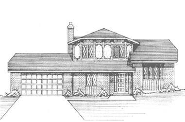 3-Bedroom, 1930 Sq Ft Tudor Home Plan - 146-2022 - Main Exterior