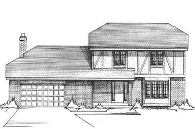 4-Bedroom, 2331 Sq Ft Tudor House Plan - 146-2025 - Front Exterior