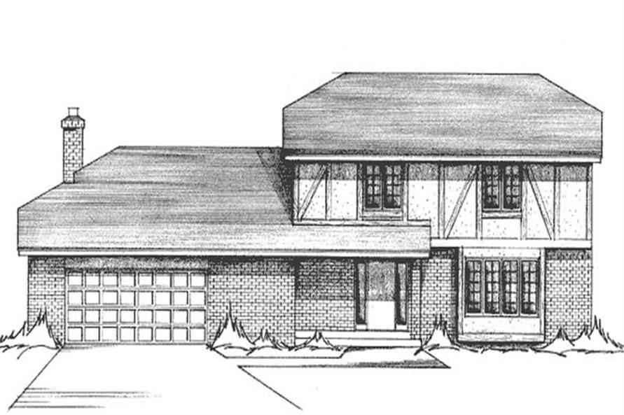 4-Bedroom, 2331 Sq Ft Tudor House Plan - 146-2025 - Front Exterior