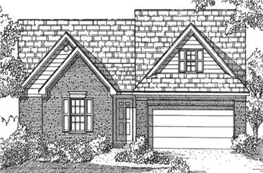 3-Bedroom, 1478 Sq Ft Small House Plans - 146-2027 - Front Exterior