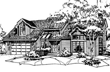 3-Bedroom, 4092 Sq Ft Colonial House Plan - 146-2030 - Front Exterior