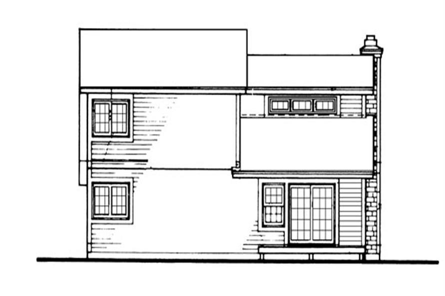 146-2032: Home Plan Rear Elevation