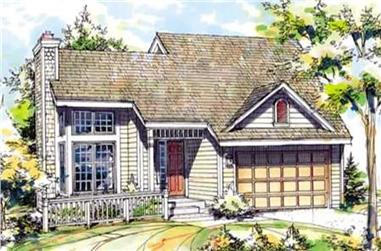 3-Bedroom, 1246 Sq Ft Country House Plan - 146-2032 - Front Exterior