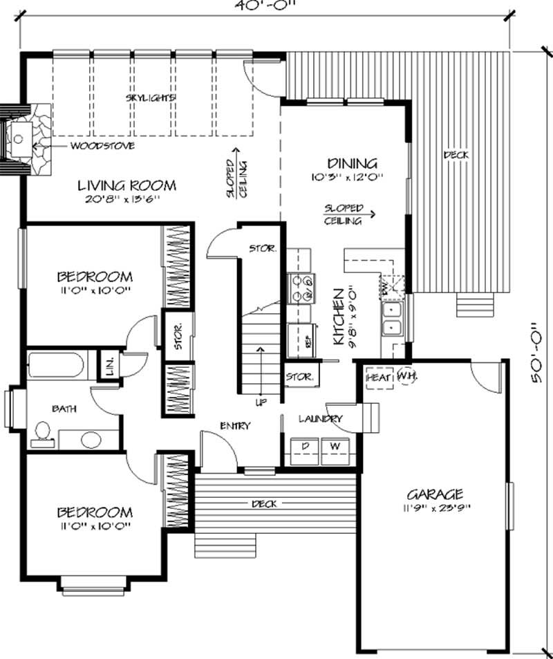 Vacation house plans home design ls h 9471 a for Holiday house plans