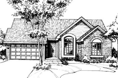 2-Bedroom, 1360 Sq Ft Ranch House Plan - 146-2035 - Front Exterior