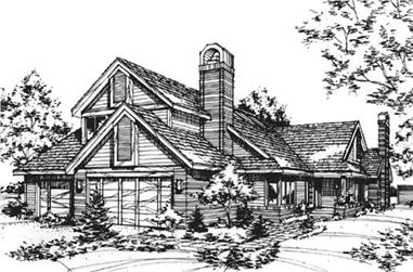 4-Bedroom, 3726 Sq Ft Traditional House Plan - 146-2036 - Front Exterior