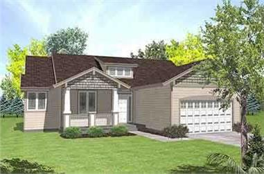 3-Bedroom, 1711 Sq Ft Bungalow House Plan - 146-2037 - Front Exterior
