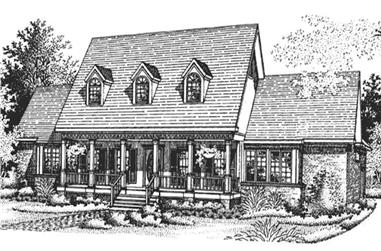 4-Bedroom, 3263 Sq Ft Colonial House Plan - 146-2038 - Front Exterior