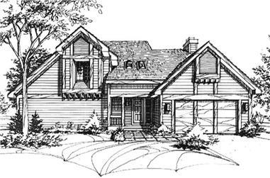 3-Bedroom, 2107 Sq Ft Cape Cod Home Plan - 146-2039 - Main Exterior