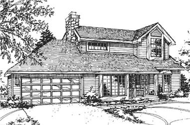 2-Bedroom, 1443 Sq Ft Country House Plan - 146-2043 - Front Exterior