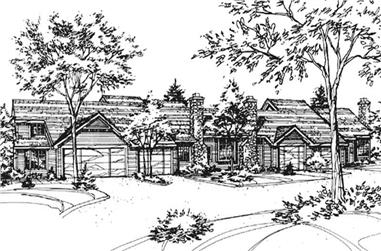1-Bedroom, 1135 Sq Ft Multi-Unit House Plan - 146-2044 - Front Exterior