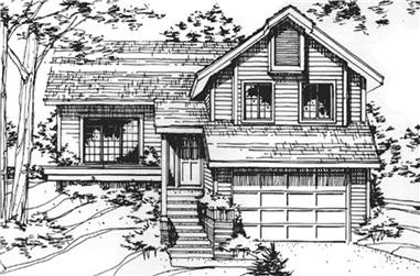 2-Bedroom, 1538 Sq Ft Cottage Home Plan - 146-2048 - Main Exterior