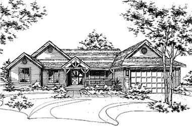 4-Bedroom, 2421 Sq Ft Country Home Plan - 146-2049 - Main Exterior