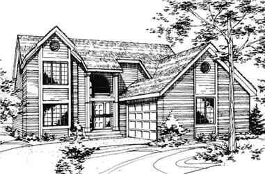 3-Bedroom, 3567 Sq Ft Country Home Plan - 146-2052 - Main Exterior