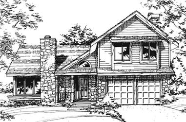 3-Bedroom, 2253 Sq Ft Country House Plan - 146-2053 - Front Exterior