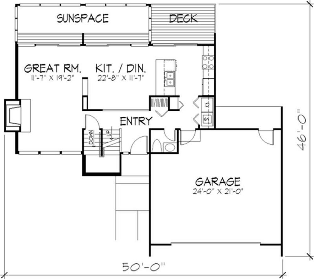 House Plan LS-B-605 Main Floor Plan