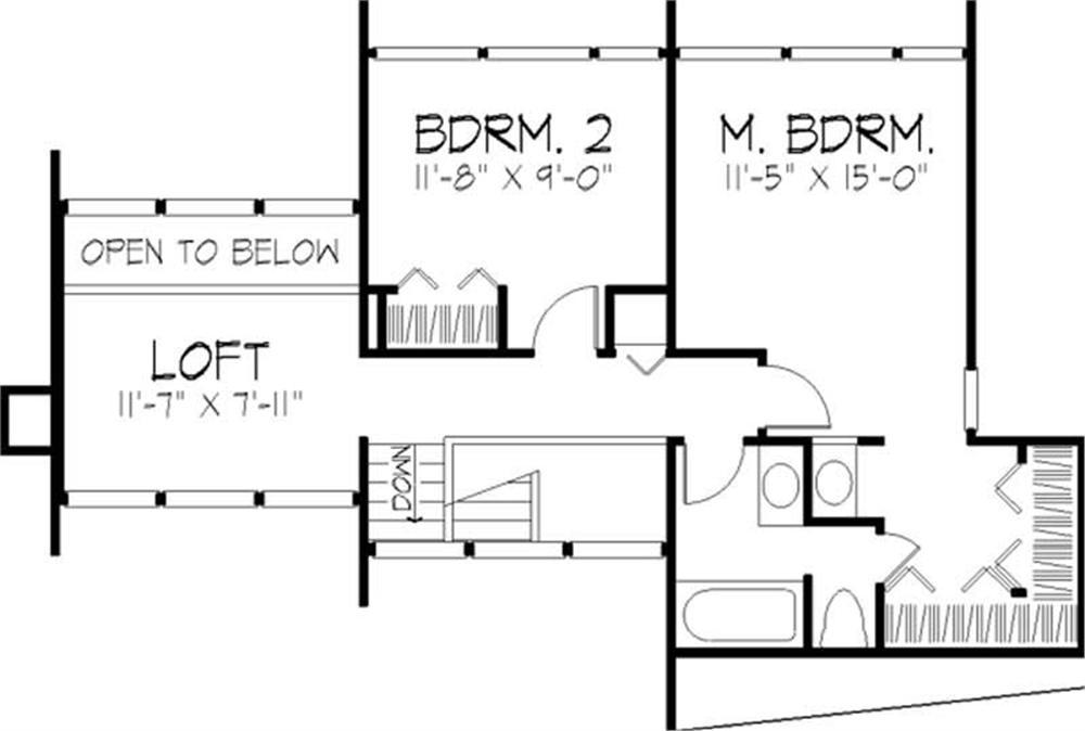 House Plan LS-B-605 Second Floor Plan