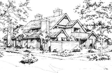 1-Bedroom, 658 Sq Ft Multi-Unit House Plan - 146-2055 - Front Exterior