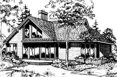 2-Bedroom, 1712 Sq Ft Cape Cod House Plan - 146-2056 - Front Exterior