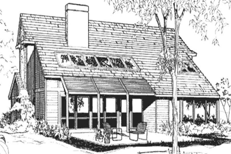 Modern, Passive Solar, Ranch House Plans - Home Design LS-B-510 # 21439