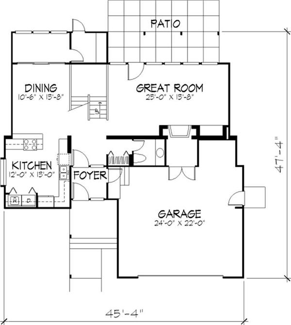 House Plan LS-B-510 Main Floor Plan