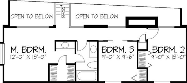 House Plan LS-B-510 Second Floor Plan