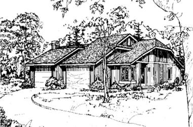 2-Bedroom, 989 Sq Ft Multi-Unit House Plan - 146-2058 - Front Exterior