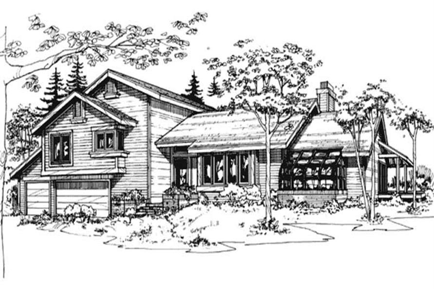 3-Bedroom, 2705 Sq Ft Contemporary Home Plan - 146-2061 - Main Exterior