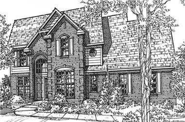 3-Bedroom, 2280 Sq Ft European House Plan - 146-2063 - Front Exterior