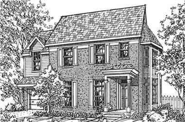 3-Bedroom, 2493 Sq Ft Colonial House Plan - 146-2067 - Front Exterior