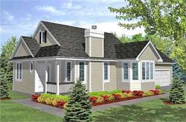 2-Bedroom, 1548 Sq Ft Country House Plan - 146-2069 - Front Exterior