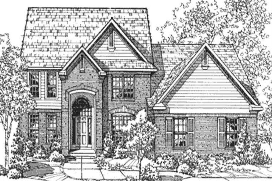 Home Plan Front Elevation of this 3-Bedroom,2507 Sq Ft Plan -146-2071