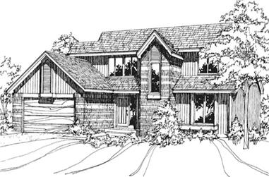 3-Bedroom, 2200 Sq Ft Contemporary House Plan - 146-2072 - Front Exterior